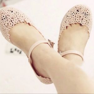Shoes - Meilisa Flower jelly sandals size 8